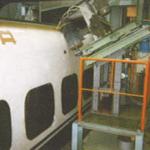 鉄道車両下地処理洗浄装置